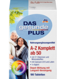 DAS gesunde PLUS A-Z Komplett ab 50 Tabletten 100 St-Витаминный комплекс A-Z Depot от 50 лет(24 витамина и минерала)