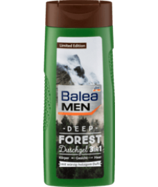 Balea MEN  Duschgel Deep Forest 3in1, 300 ml-- Гель для душа 3in 1: Для тела, лица, волос