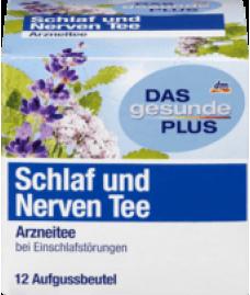 DAS gesunde PLUS Schlaf und Nerven Tee, 12 x 1,5 g, 18 g-Органический успокаивающий  чай — сон и крепкие нервы.