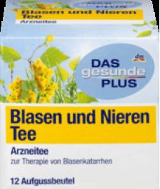 DAS gesunde PLUS Blasen und Nieren Tee, 12 x 1,5 g, 18 g—Органический травяной чай для лечения мочевого пузыря и почек