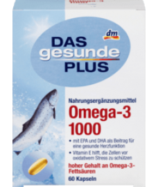 DAS gesunde PLUS Omega-3 1000 mg Kapseln, 60 St-Омега 3 комплекс для взрослых и детей
