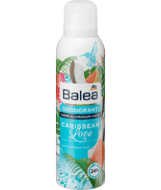 Balea Deo Spray Deodorant Caribbean Love, 200 ml-Дезодорант-спрей сладкий запах гуавы и кокоса