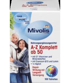 Milovis A-Z Komplett ab 50 Tabletten 100 St-Витаминный комплекс A-Z Depot от 50 лет(21 витамина и минерала)