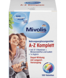 Mivolis A-Z Komplett Tabletten, 100 St-Витаминный комплекс