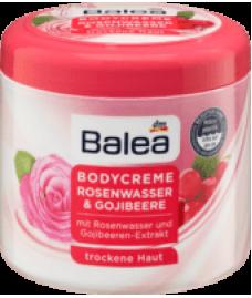Крем для тела с розовой водой с экстрактом ягод годжи Balea Bodycreme Rosenwasser & Gojibeere, 500 ml